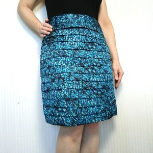 Turquoise Tiered Skirt